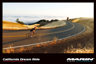 Marin Mountain Bikes California Dream Poster